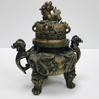 Bronze Vintage Dragon Incense Burner