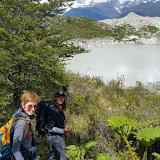 Nicole, nossa guia, no Trekking no Glaciar Exploradores, Puerto Rio Tranquilo, Chile
