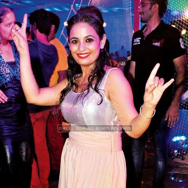 Prachi during a rain dance party in Kanpur.