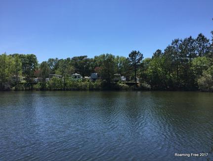 Sites back along the lake