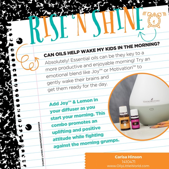 Rise and Shine with Essential Oils