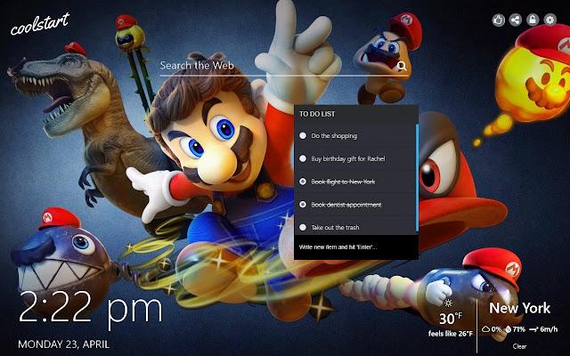 Super Mario Bros HD Wallpapers New Tab