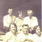 From L to R, Back to front- Jesse Gleaves, Gladys Gleaves, Guy Tovell Gleaves, Minnie Gleaves, Charles Gleaves, and Freddie Gleaves