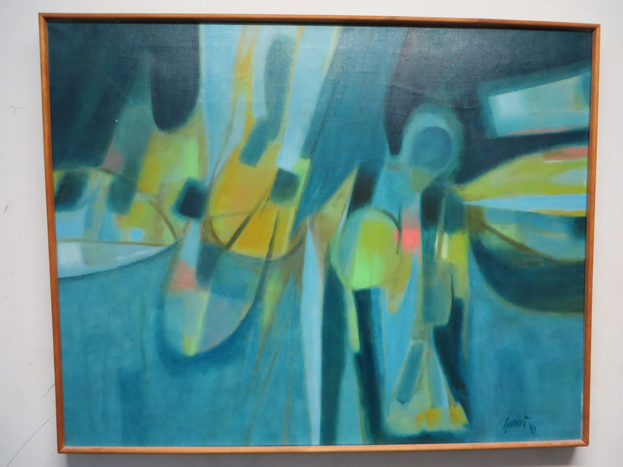 Leroy K. Burket Abstract Painting