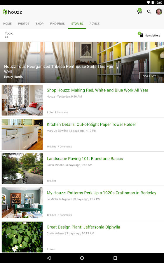 Houzz Interior Design Ideas: captura de tela