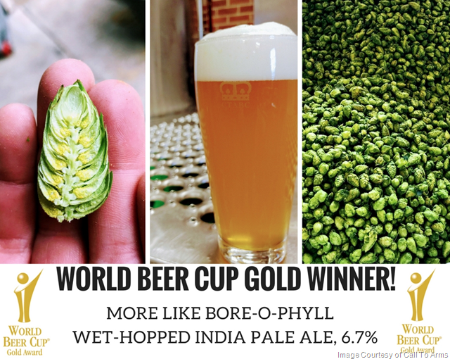 Call to Arms Wins Gold at World Beer Cup® 2018
