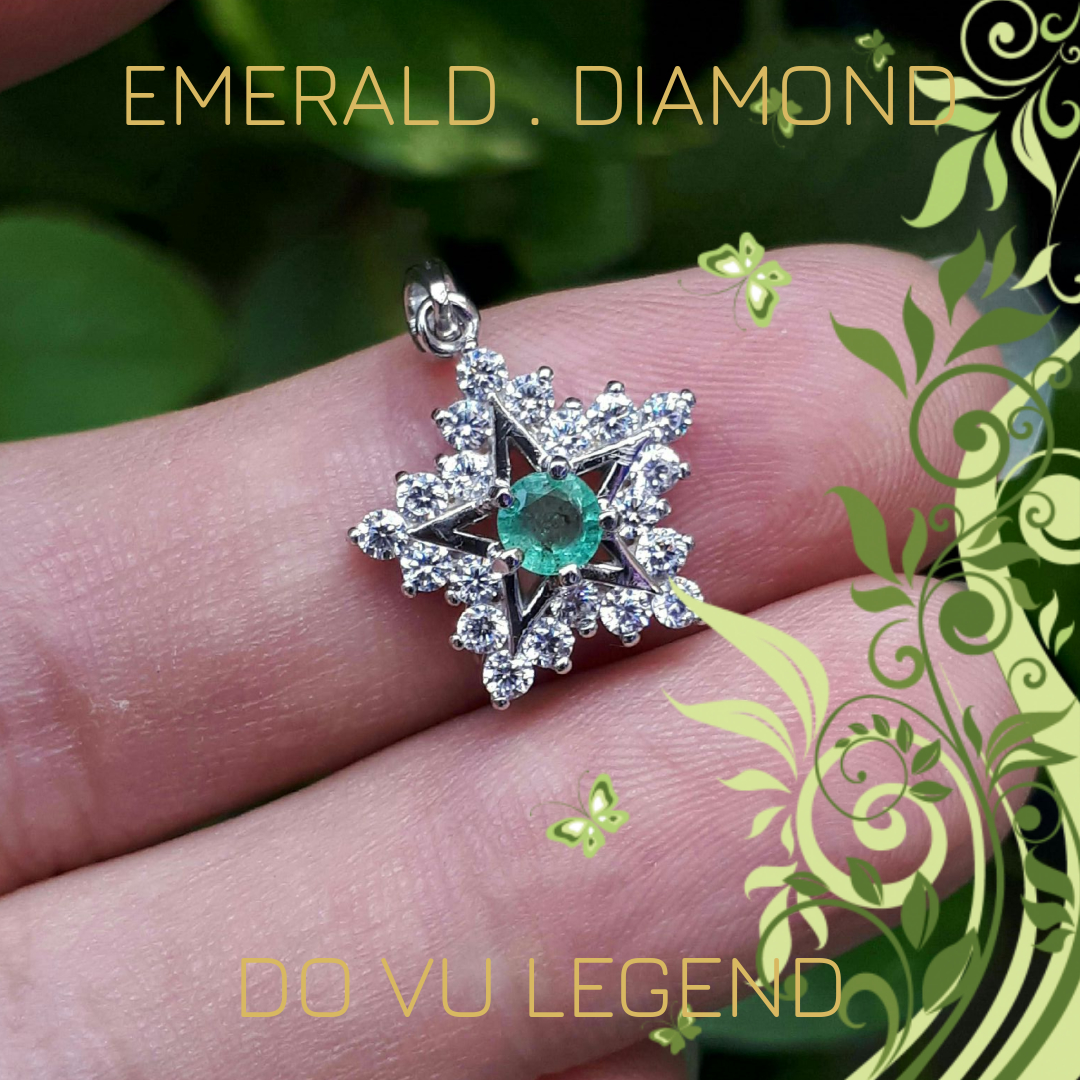 Mặt dây chuyền Emerald Ngọc Lục Bảo nữ