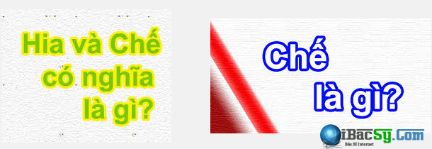 Giải thích nghĩa của từ HIA và từ CHẾ + Hình 2