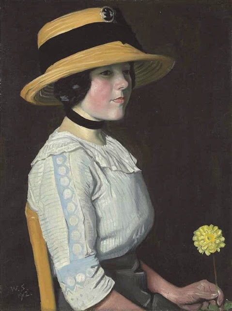 William Strang - The Straw Hat