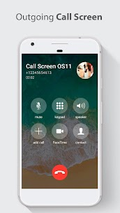 Call Screen Theme OS 11 Phone 8 6