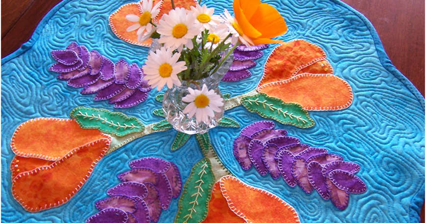 Art Threads Wednesday Sewing Quilted Spring Flower