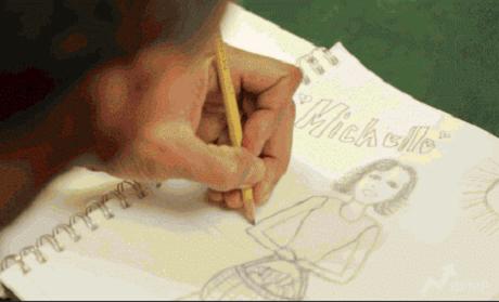 Tổng thống Mỹ vẽ tranh cho người ông yêu. (Ảnh: