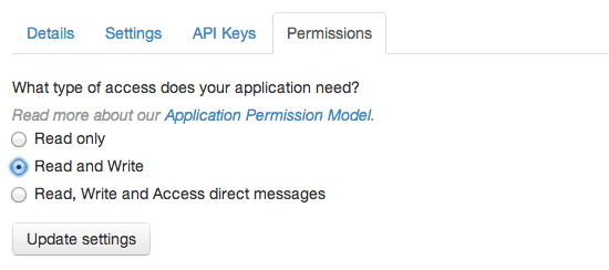 Twitter OAuth Status Update using PHP.