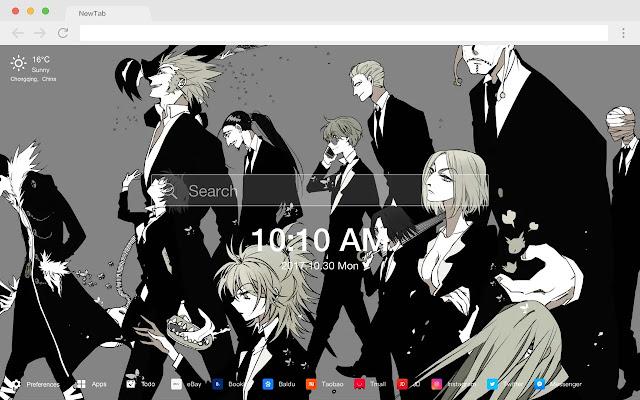 HUNTERxHUNTER pop HD new tab page theme