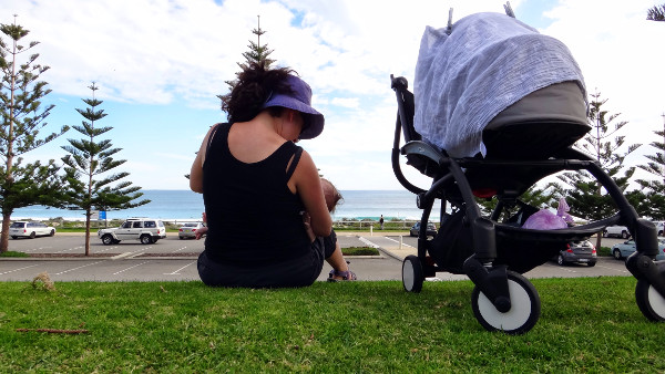 Breastfeeding at Scarborough Beach in Western Australia