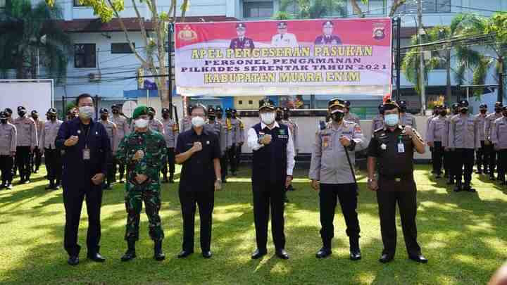 Pimpin Apel Serper Pengamanan Pilkades Serentak Tahun 2021:Pj Bupati berikan Arahan.