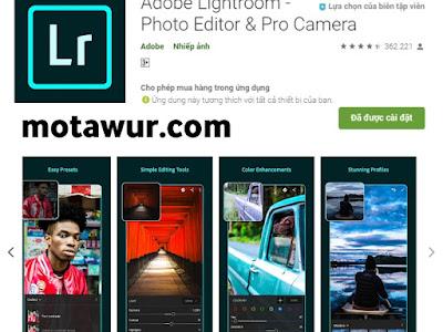 Adobe lightroom -  أفضل تطبيقات الأندرويد 2021