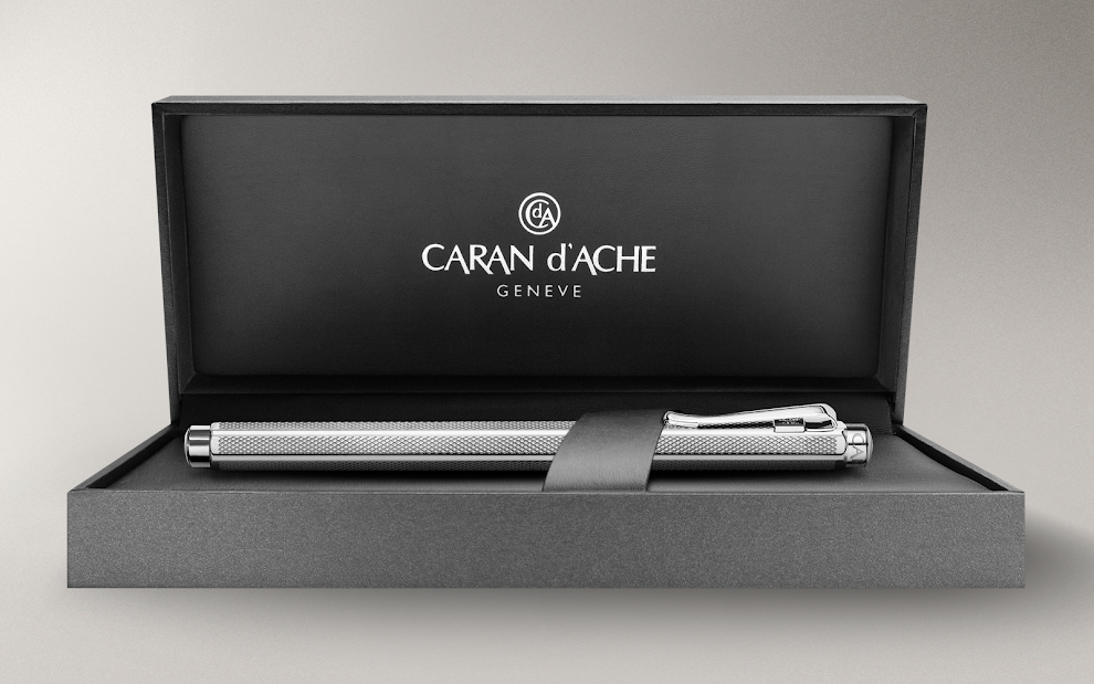 Palladium-coated Ecridor Retro fountain pen - Caran d'Ache