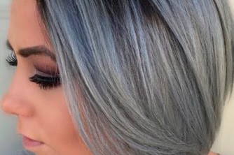 Gray Ombre Hair Color For Short Hair