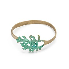 Uncommon goods fern leaf bracelet