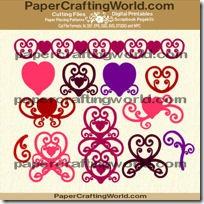 curly hearts n swirls ppr-cf-200