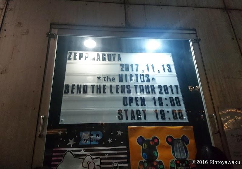 the HIATUS|Bend the Lens Tour 2017@ZeppNAGOYA(11/13)