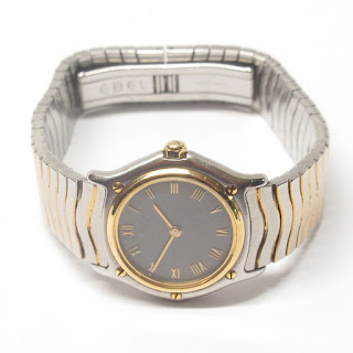 Ebel 18K Gold and Stainless Steel Womens Classic Wave Watch