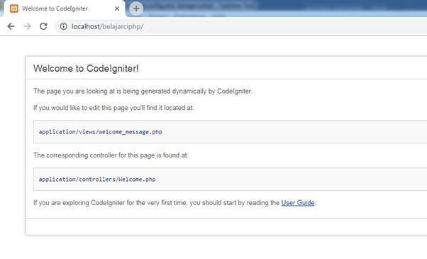 Menjalankan CodeIgniter di Localhost Xampp
