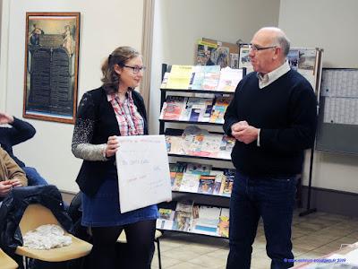 Lors de son AG, le club de Saint-Pierre de Boeuf à remis le chèque de la Bourse Aspirant Champion de l'AIA, représentée par Charles Imbert, à Cassandra Coquet ce 4 janvier 2019.