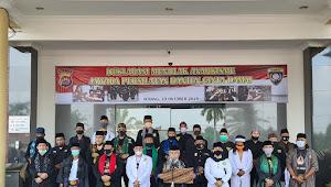 Polda Banten Bersama TNI, dan Ratusan Jawara Kompak Deklarasi Cinta Damai Tolak Anarkisme