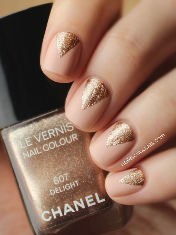 Best 25+ Glamorous Golden Nails Ideas For 2018 - Manicure Lady Style