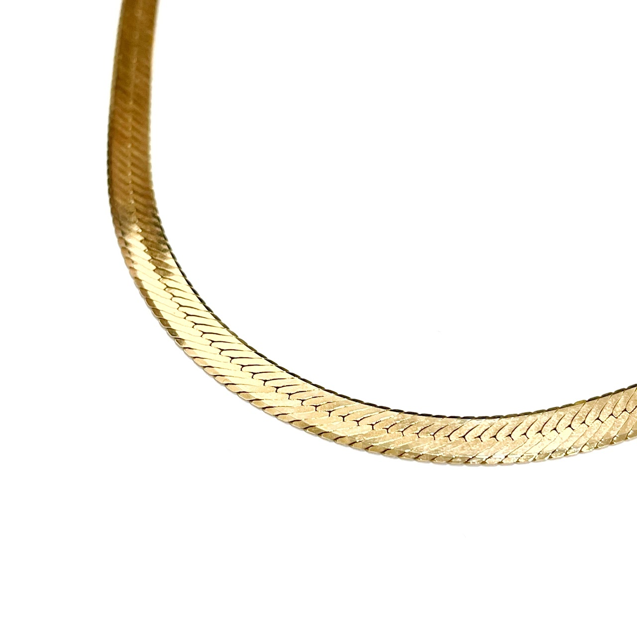 """14K Gold Flat Chain 24"""" Necklace"""