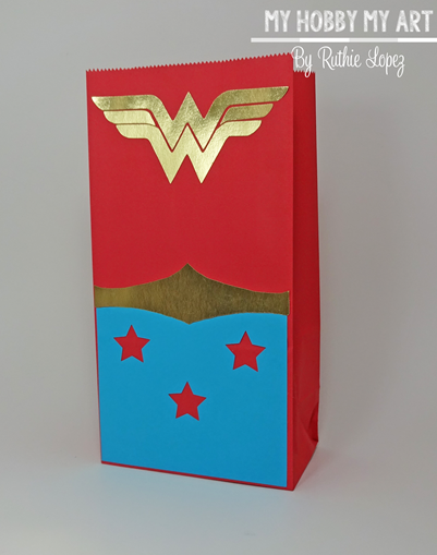 Wonder woman, treat bag Blog Hop Friends, Ruthie Lopez 3