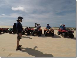 Orientações na área de dunas