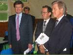 M. Le Proviseur entouré de M. Bonnecarrère et M. Fernadès.
