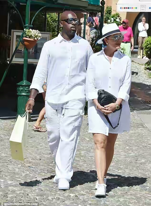 Kris Jenner & Her Toyboy Wear Matching Outfits In Italy