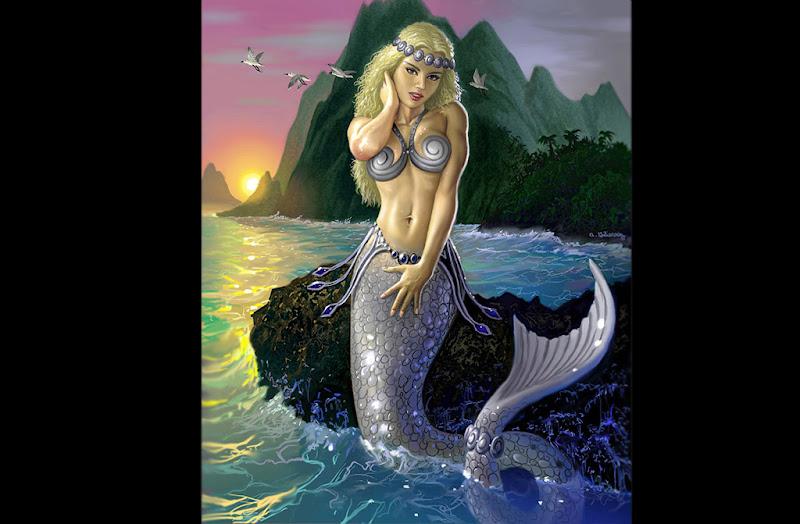 Look Of Cute Water Nymph, Mermaids