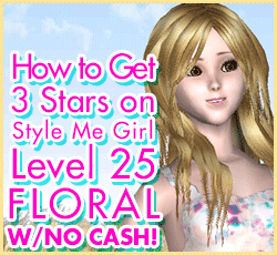Style Me Girl Level 25 - Floral - Sarah - Stunning! Three Stars