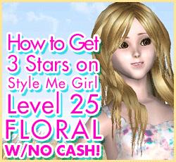 Style Me Girl Level 25 - Floral - Sarah - Stunning! Three Stars