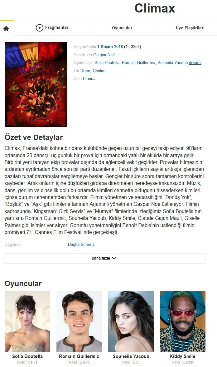 Climax 2018 - 1080p 720p 480p - Türkçe Dublaj Tek Link indir