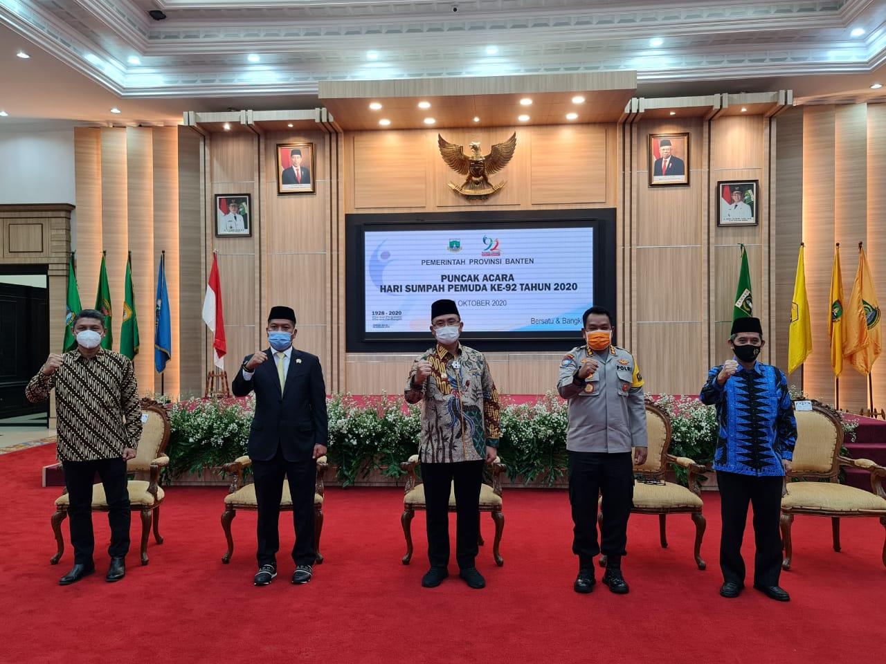Hari Sumpah Pemuda, Dirbinmas Polda Banten Ajak Pemuda Cegah Penyebaran Covid-19