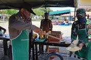 TNI dan Polri Dirikan Dapur Lapangan di Nagan Raya