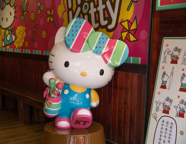 photo of a Hello Kitty statue