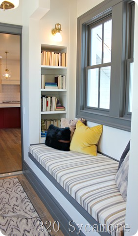 reading nook gray trim