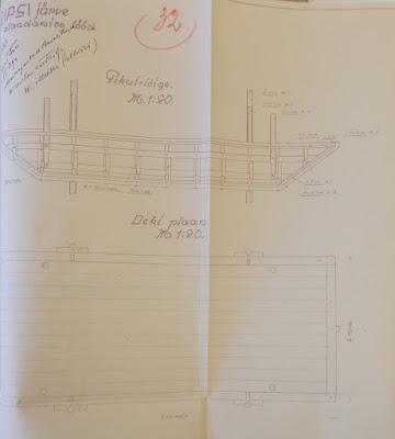 Понтон для сверлильных работ.(Из материалов Эстонского государственного архива)