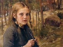 EDELFELT Albert A Girl Knitting Socks 1886