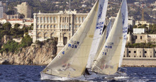 J/24s sailling off Monte Carlo, Monaco