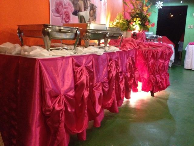 Grillah pub restaurant catering services buffet table skirting buffet table skirting watchthetrailerfo