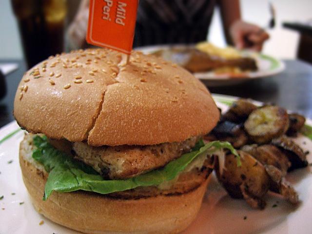 Chicken peri peri burger