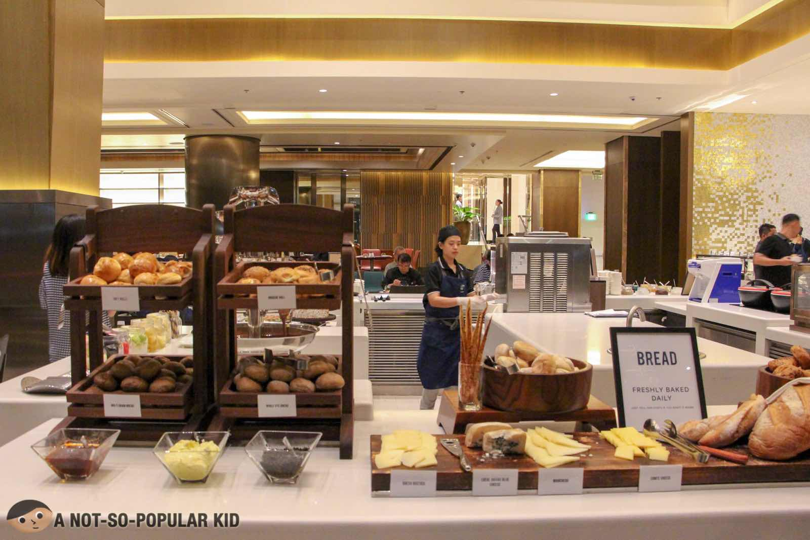 Bread and Cheese Section of S Kitchen, Sheraton Hotel